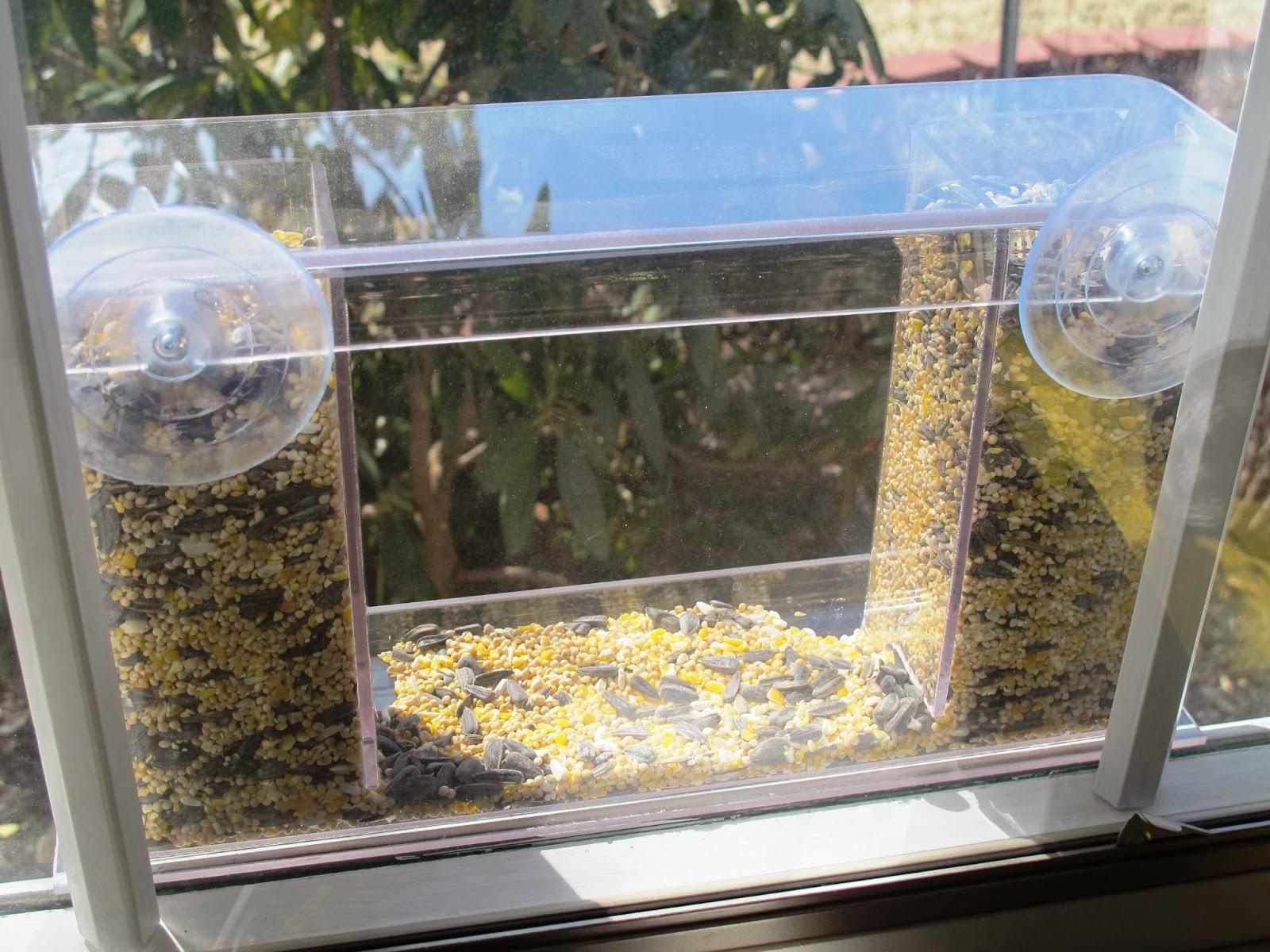 Amazing Window Mount See Through Clear Plastic Bird Feeder