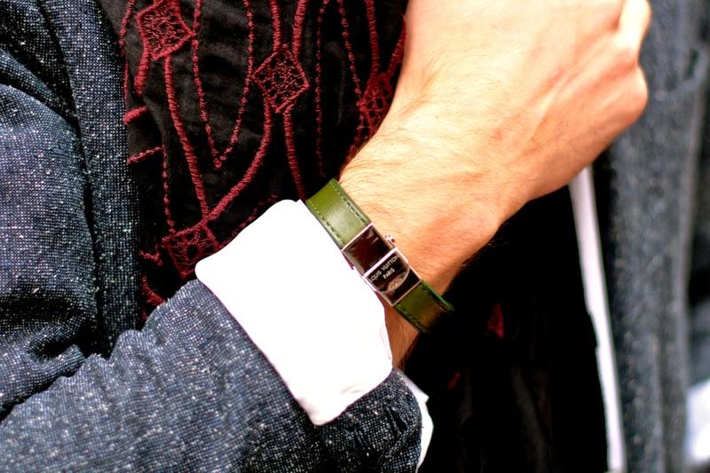sandro blazer - givenchy bag sac messenger dries van noten scarf écharpe brodée churrch's shoes richelieu blog mode homme