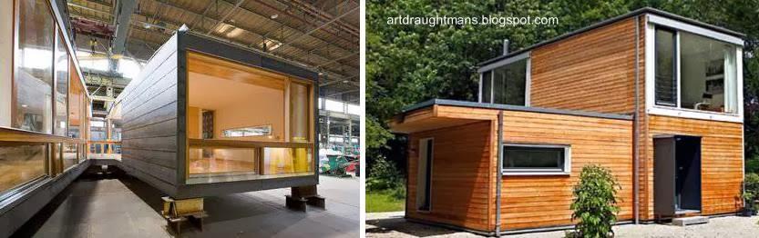 Arquitectura de casas conceptos sistemas y modelos de - Casas prefabricadas por modulos ...
