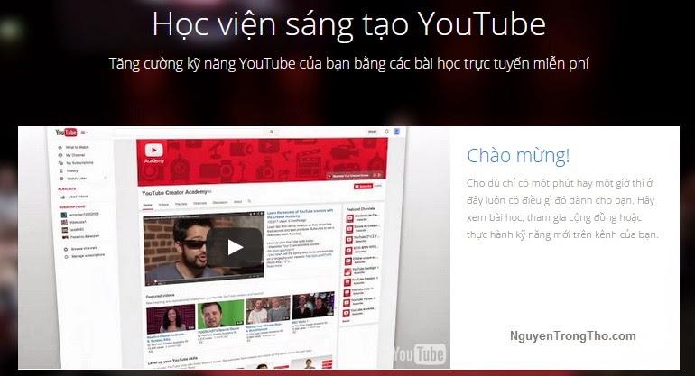 Học viện sáng tạo Youtube / Youtube Creator Academy