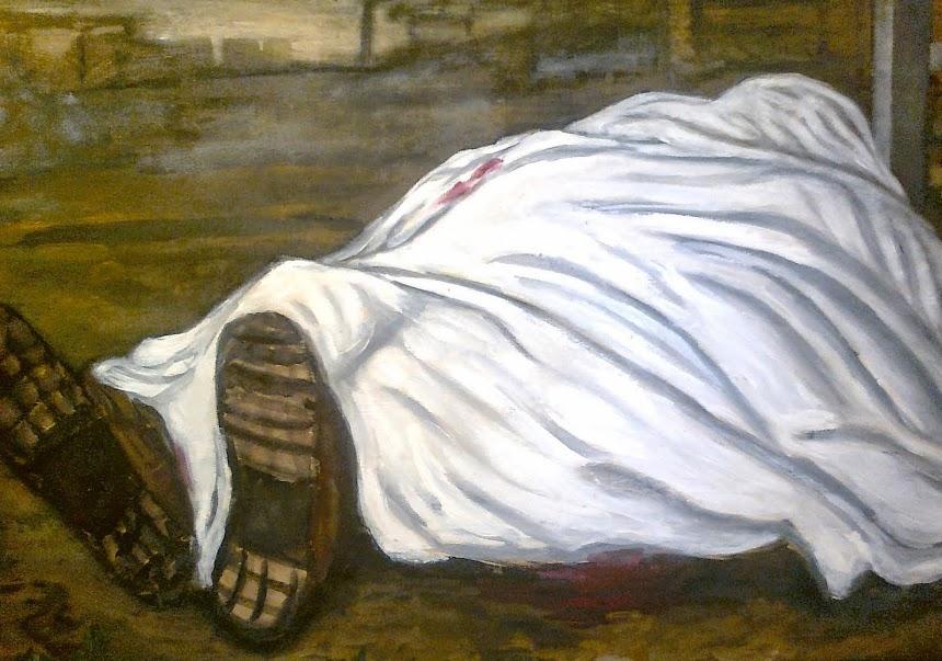 """""""Morti bianche"""" opera di Carlo Soricelli"""