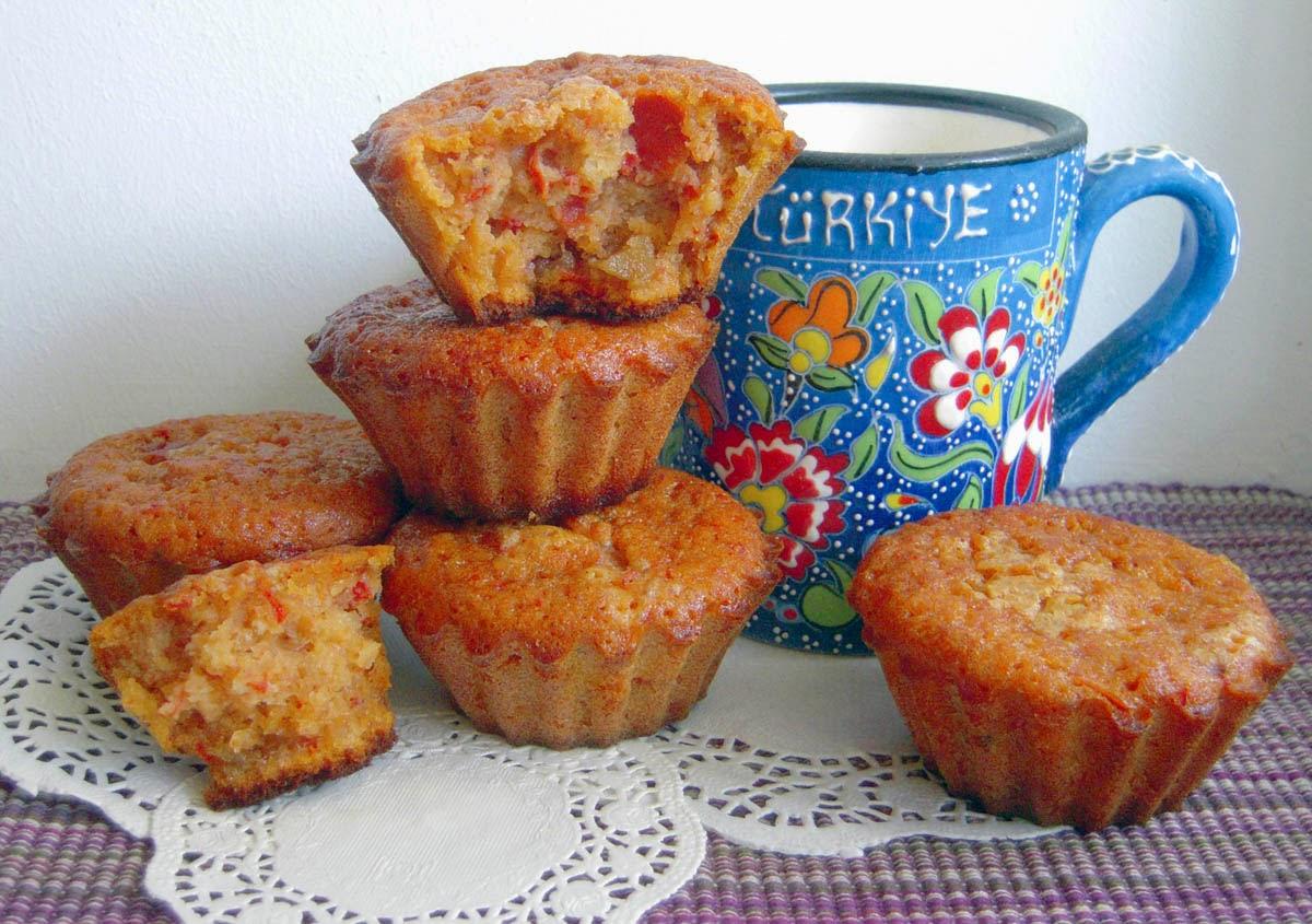 пряные томатные кексы с имбирем