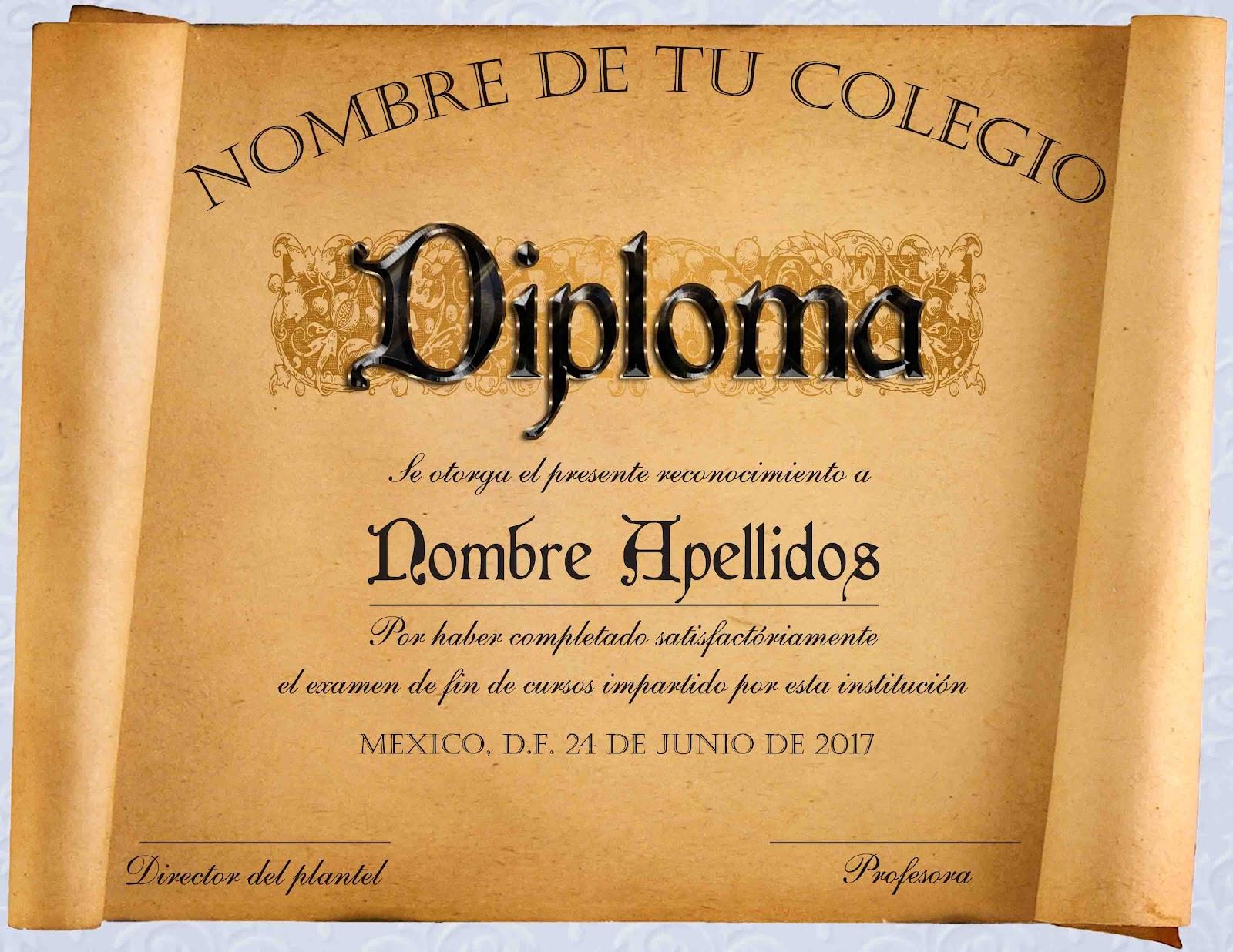 Diplomas de reconocimiento en .psd