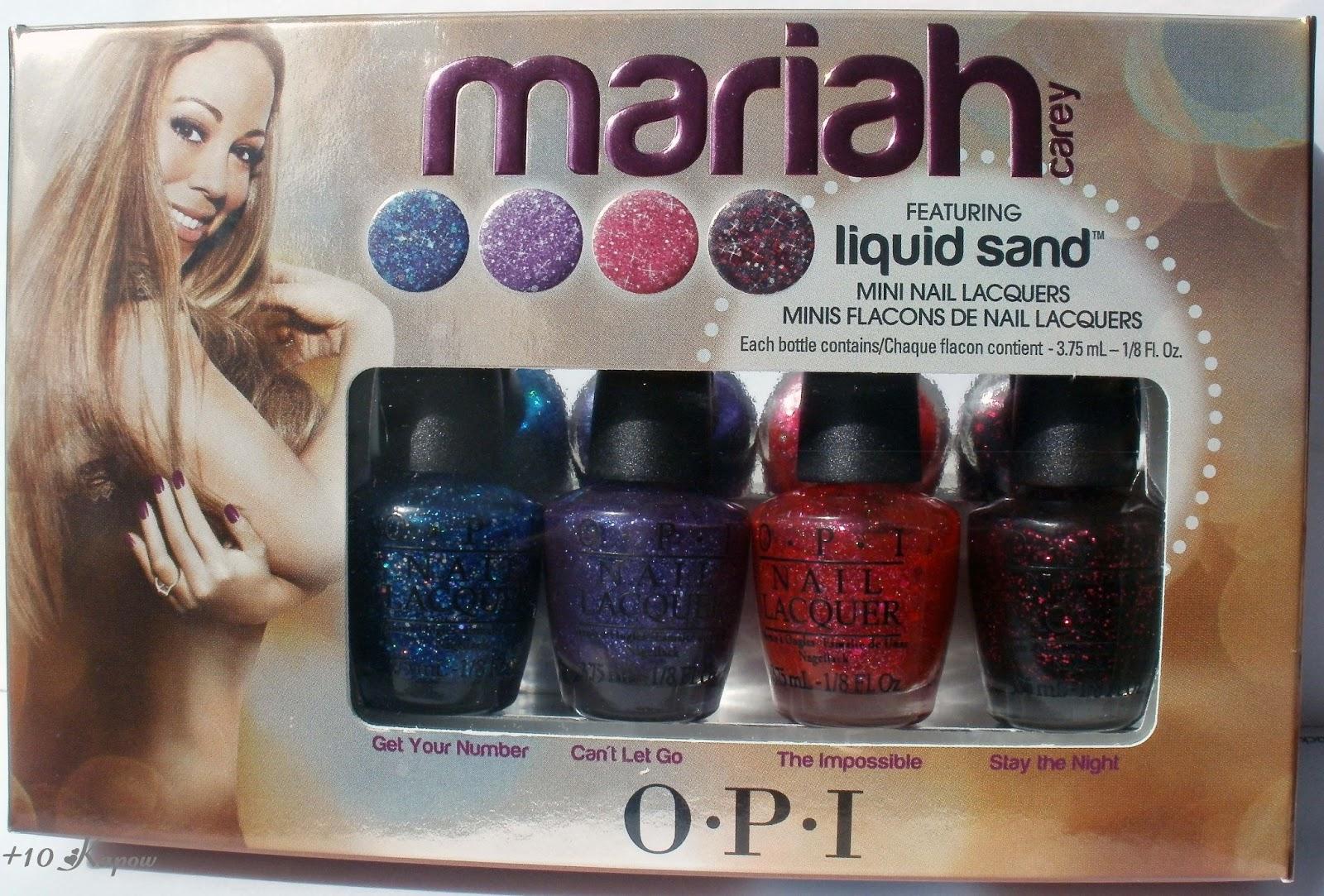 Plus10Kapow: OPI Mariah Carey Mini Liquid Sand Collection-Swatches ...