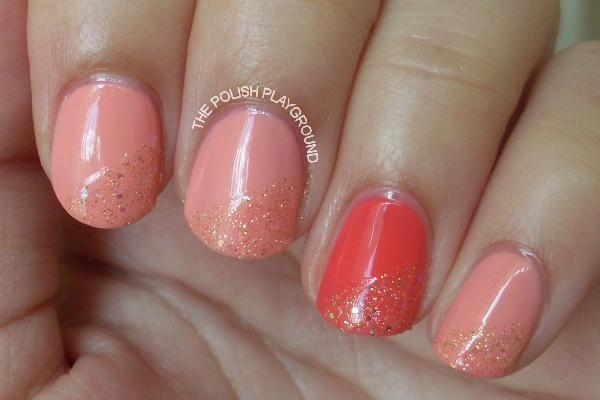 Delicate Glitter Nails