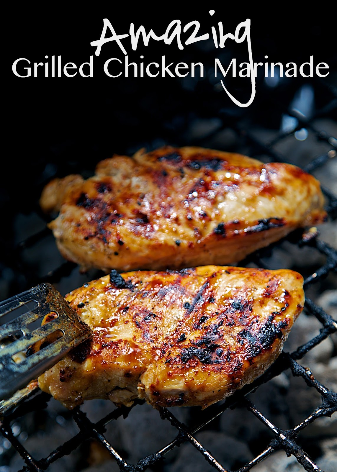 Amazing Grilled Chicken Marinade Recipe - chicken marinated in a ...