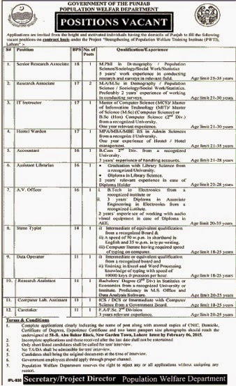 Govt Of The Punjab Jobs