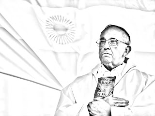 Papa Francisco para colorear