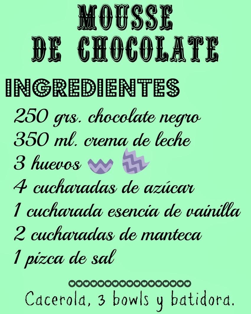 Mousse de chocolate. Receta rápida, fácil y rica!!! / Soy un Mix!