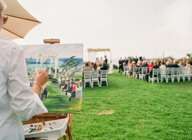 21 Insanely Fun Wedding Ideas - Have an artist paint your ceremony