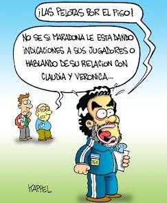 El Diego dando indicaciones