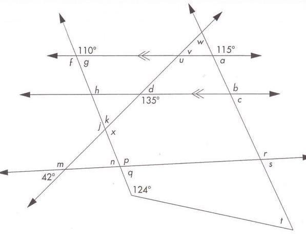 triangle angles worksheet