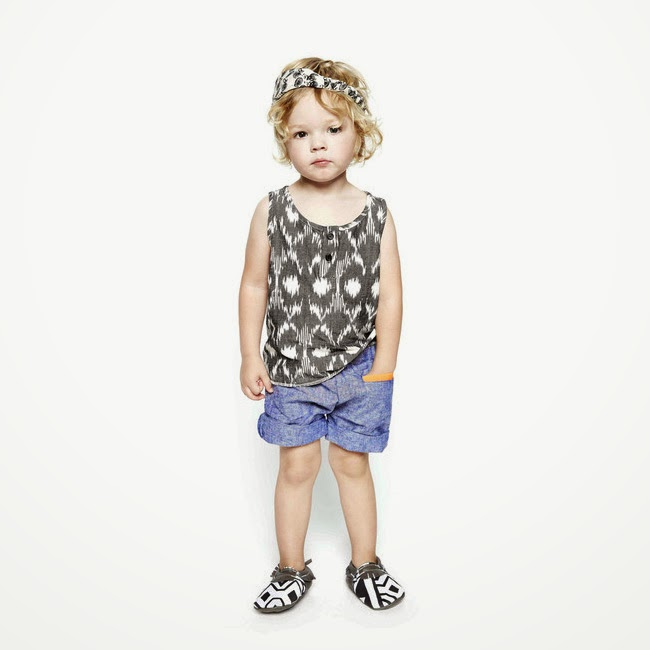Good Boy Friday: hand woven tank with ethnic inspired pattern for spring/summer 2014 kids fashion collection
