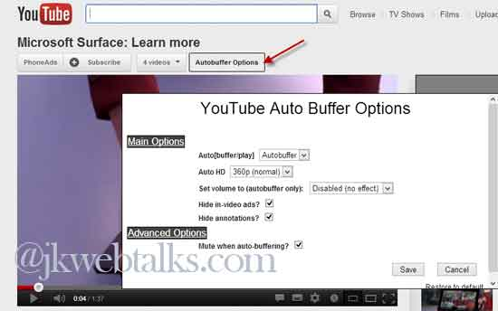 how to stop youtube videos buffering on firefox