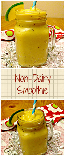 Non-Dairy Smooothie  |  Mango Kiwi Pineapple Smoothie  | Kukskitchen