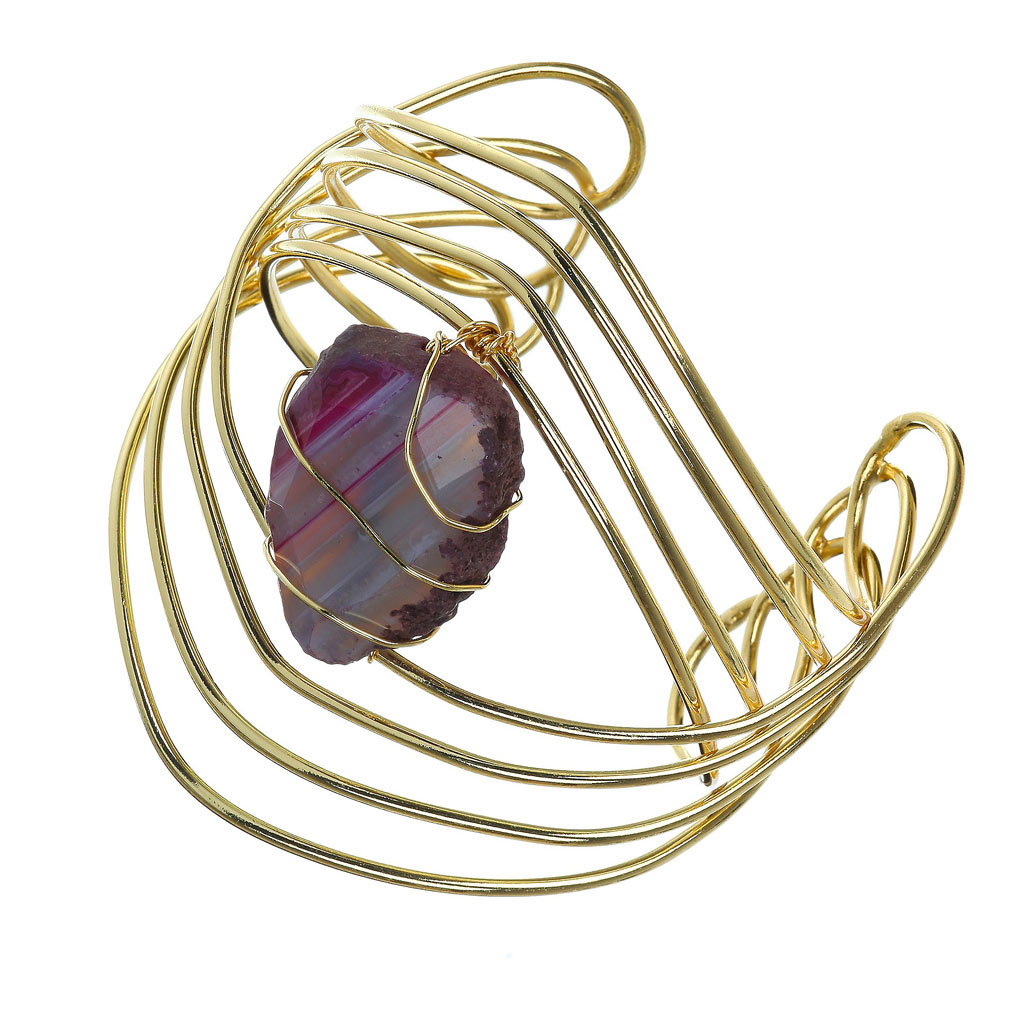 Unfortunately Oh!: Tutorial: Wire-Wrapped Crystal Bracelet
