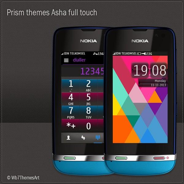 Prism themes for nokia Asha 311, Asha 310, Asha 309, Asha 308, Asha 306, Asha 305