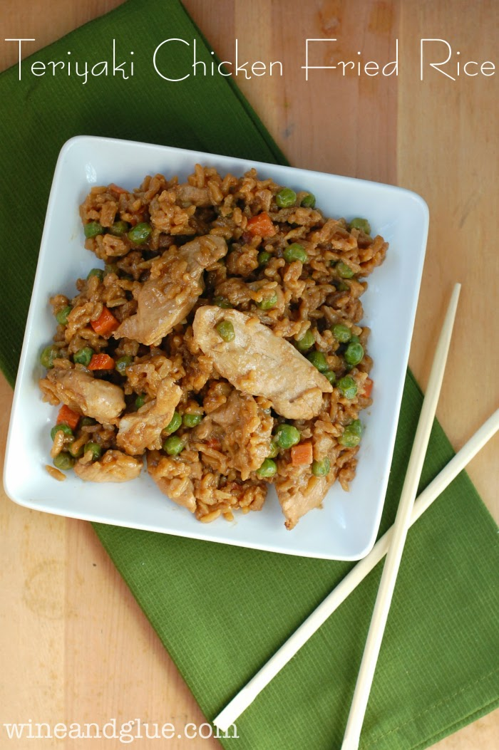 Teriyaki Chicken Fried Rice from www.wineandglue.com