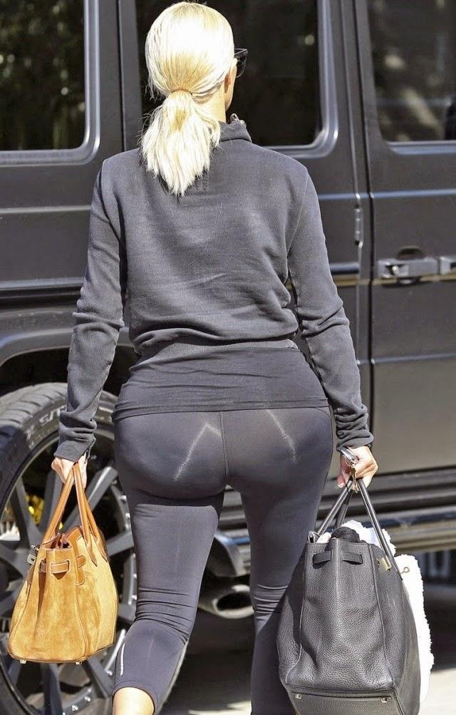 Viendo el hermoso trasero de Kim Kardashian