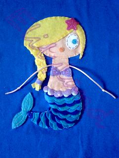 Camiseta Sirena Mini-Elily hecho a Mano