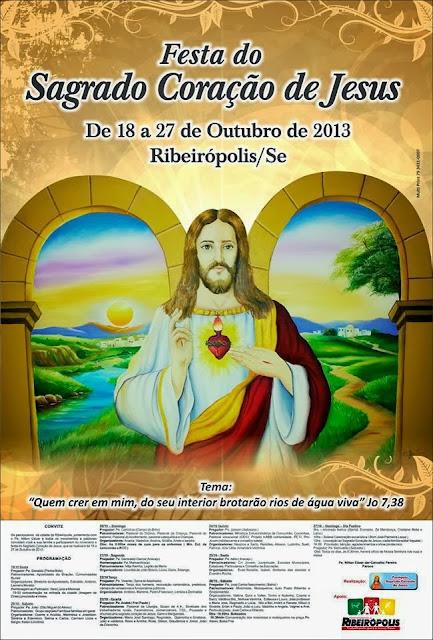 Festa do Padroeiro de Ribeirópolis acontece neste final de semana.