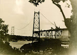 Construção da ponte Hercílio Luz