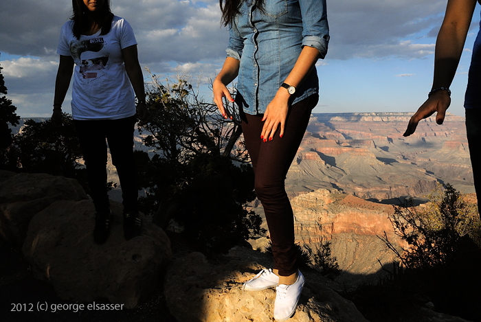 """three people near edge of the grand canyon"" (c) 2012 george elsasser"