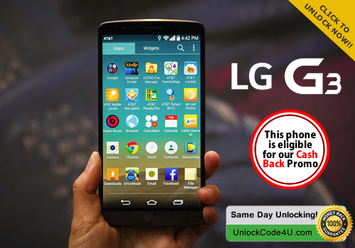 Factory Unlock Code for LG G3 from any Network World Wide