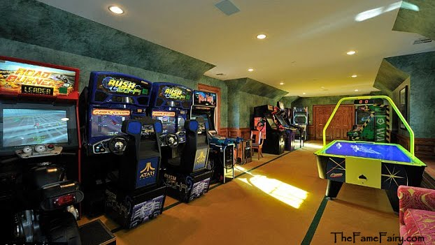The Fabulous Game Room Has Arcade Style Games