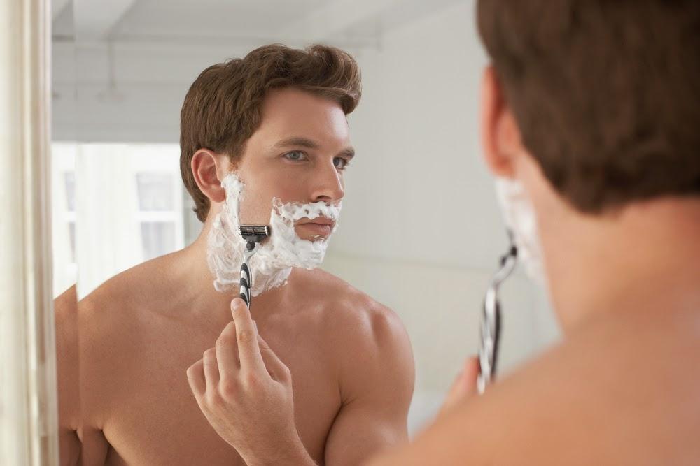 Pele irritada por causa da barba