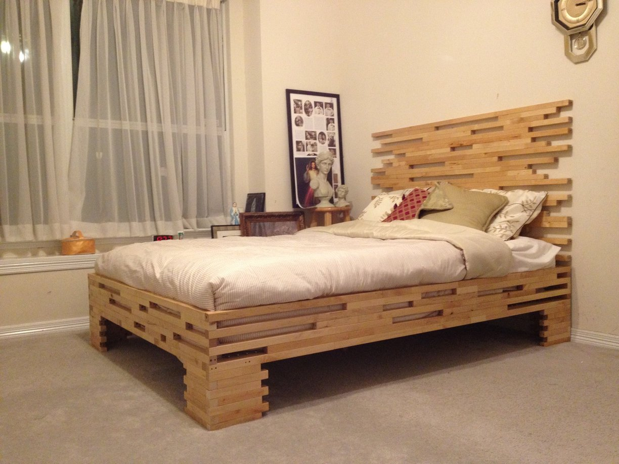 Molger leg frame to bed frame ikea hackers ikea hackers for Ikea mattress frame