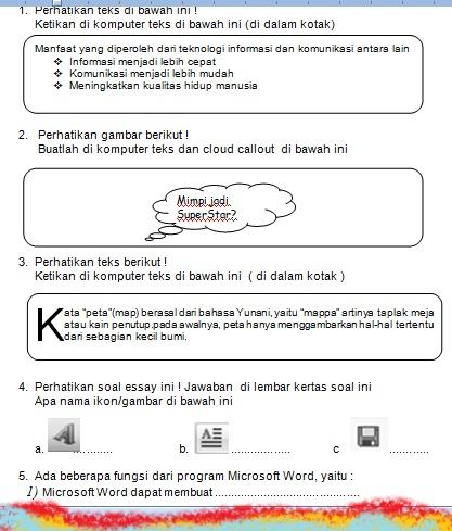 Ulangan Harian  2 Kelas II (Sabtu 26 mei 2012 )