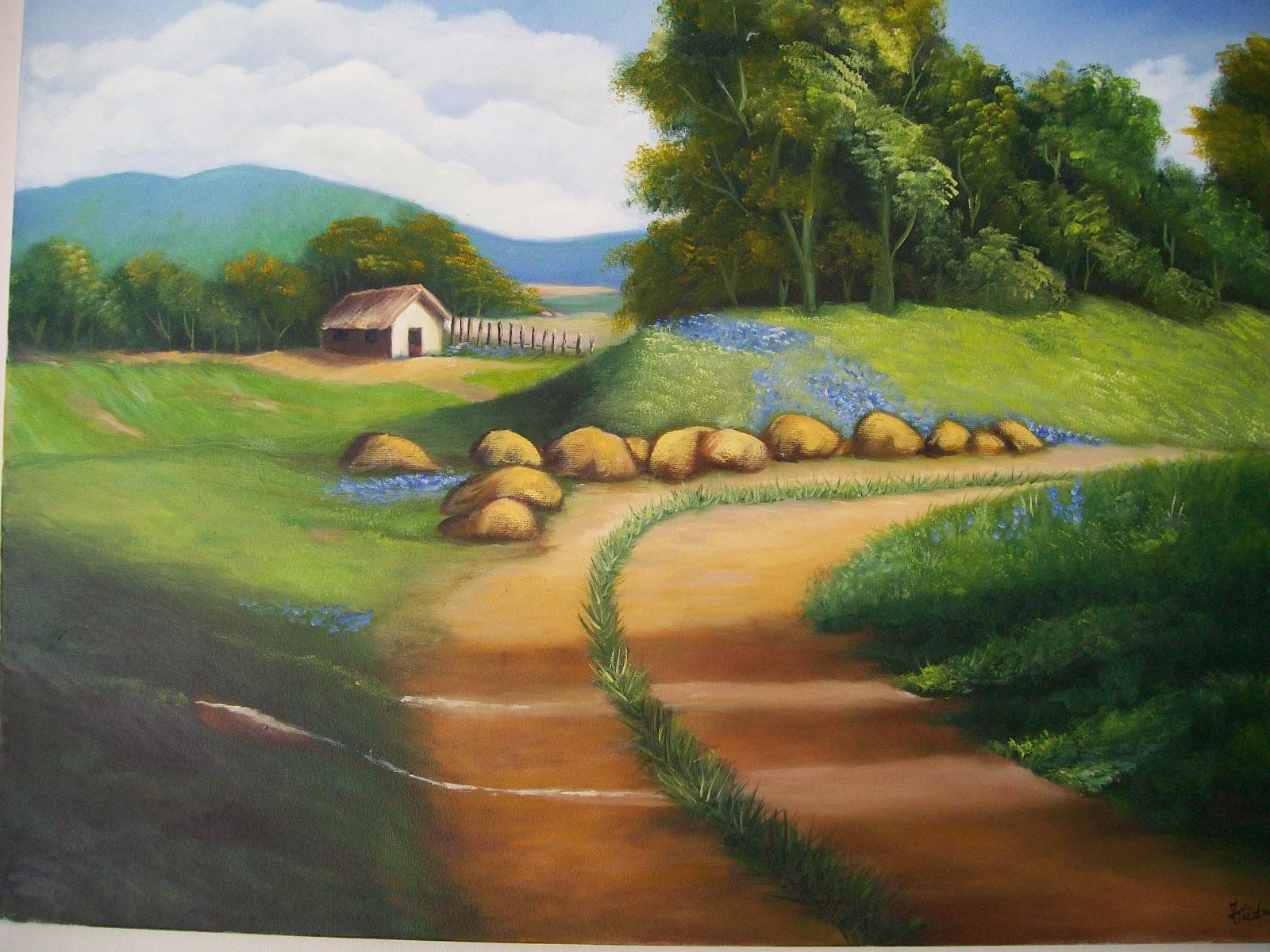 Pinturas tela casa no campo for Pinturas para casas de campo