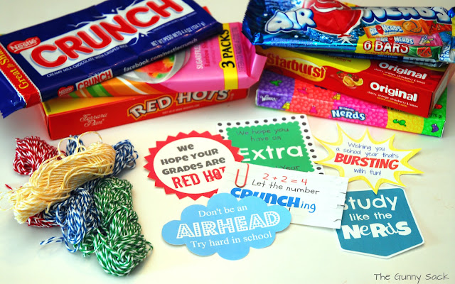 Back To School} Brown Paper Candy Grams
