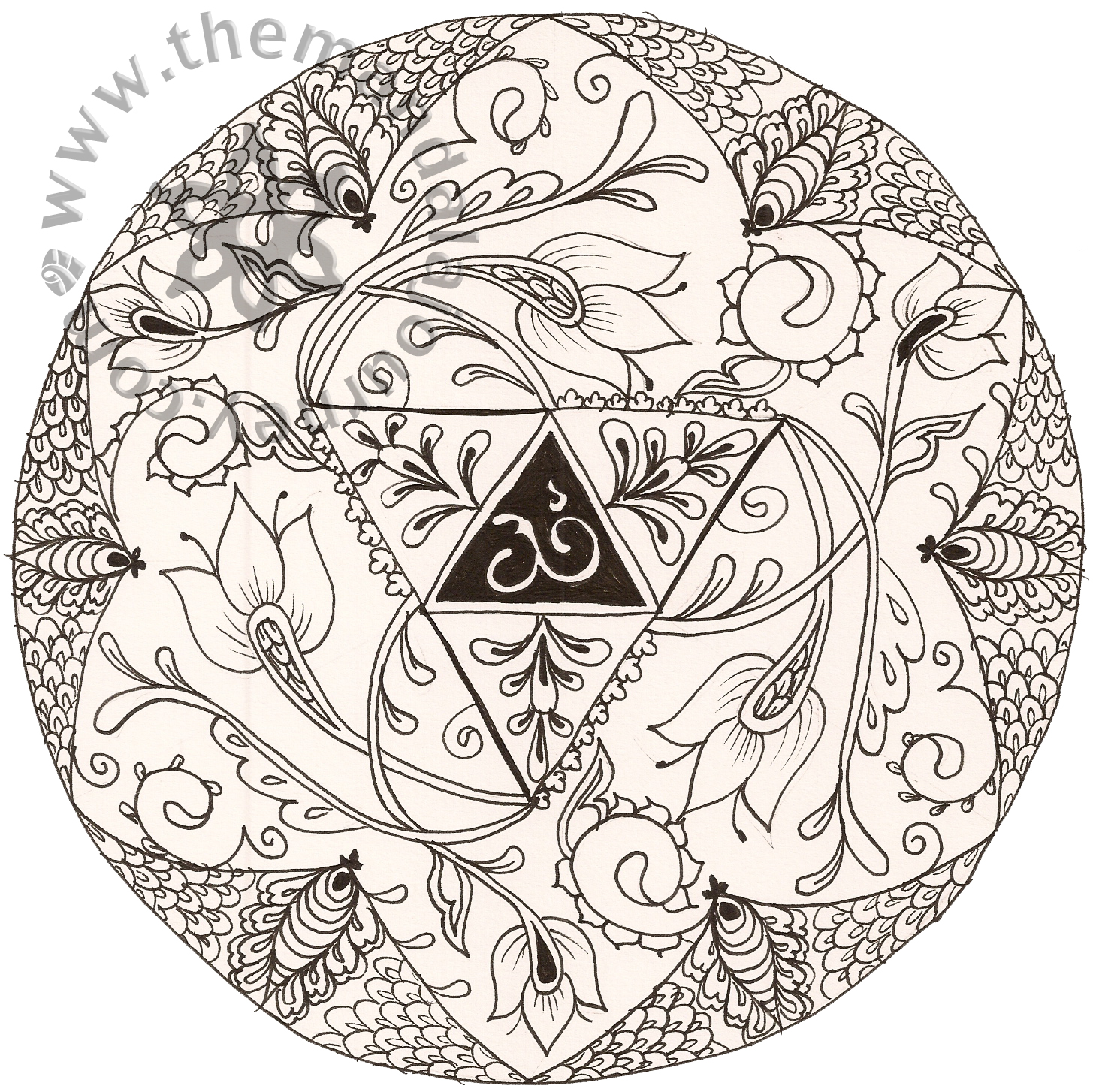 Free Coloring Pages Of Mandala Wolf