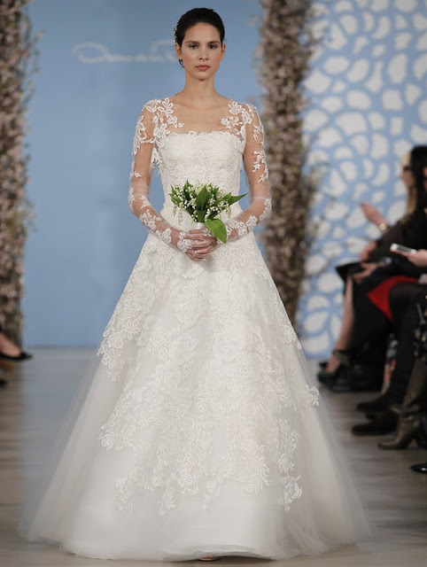 Oscar de la Renta Spring 2014 lace princess Wedding Dresses
