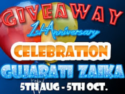 Gujaratizaika 1st Anniversary Celebration - Winner's Choice Giveaway