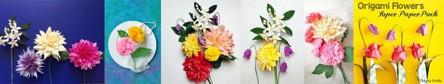 Paper Flower Tutorial by Maria Noble