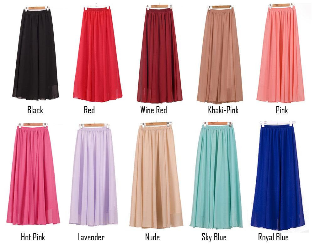 cl710 chiffon maxi skirt pre order temptations