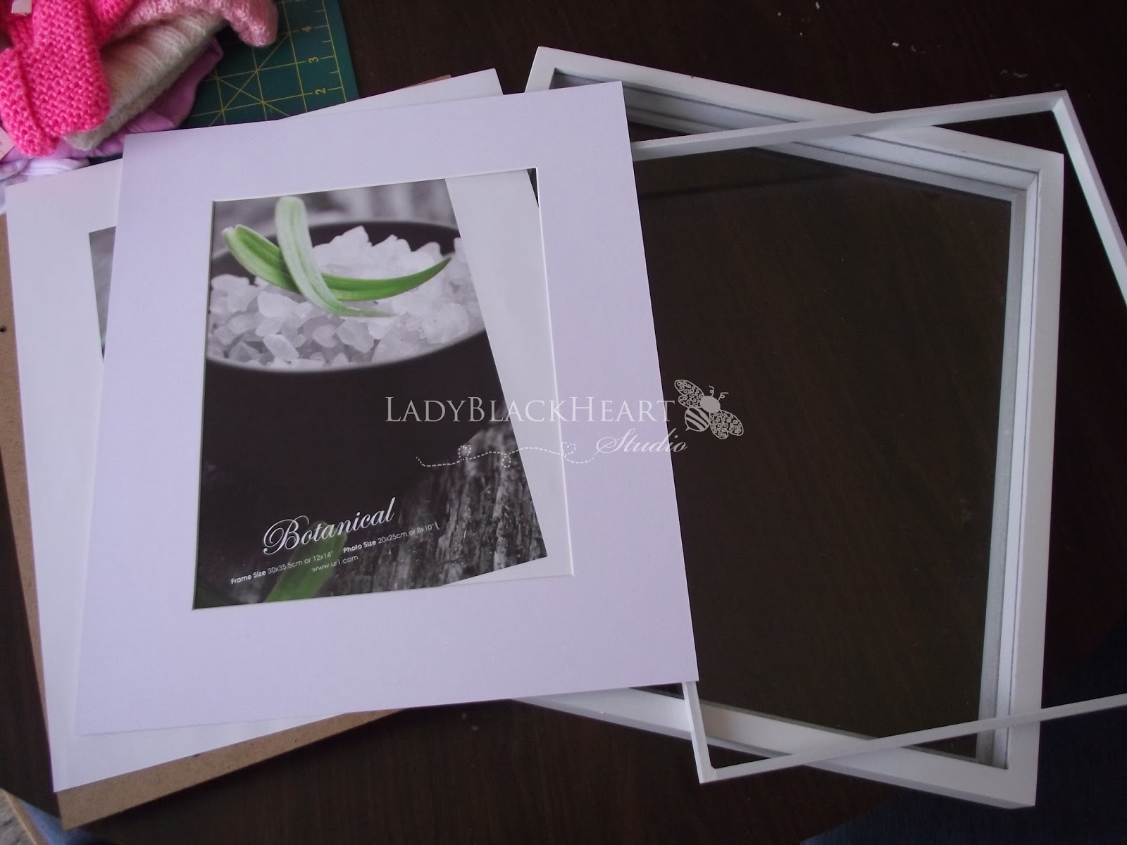 LadyBlackHeart Studio: DIY | Baby Shadow Box Memory Keepsake Frame ...