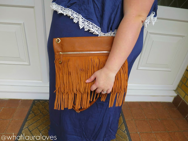 New Look Fringe Clutch Bag