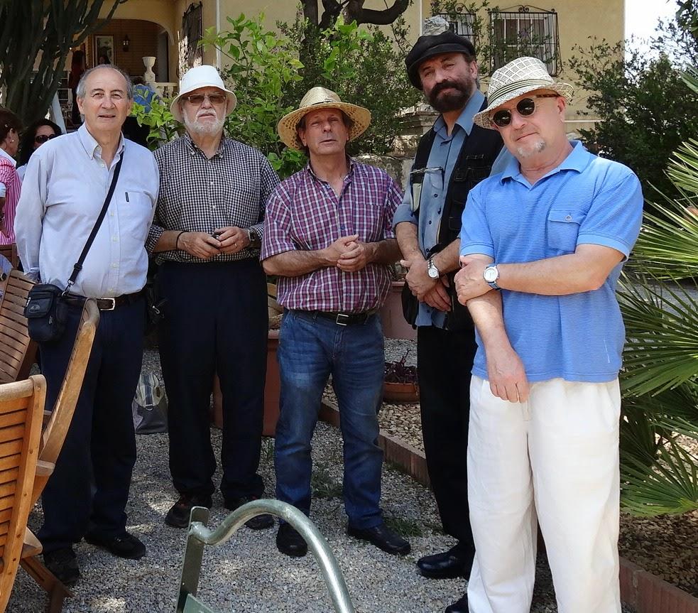 5 pintores el día de los Nenúfares
