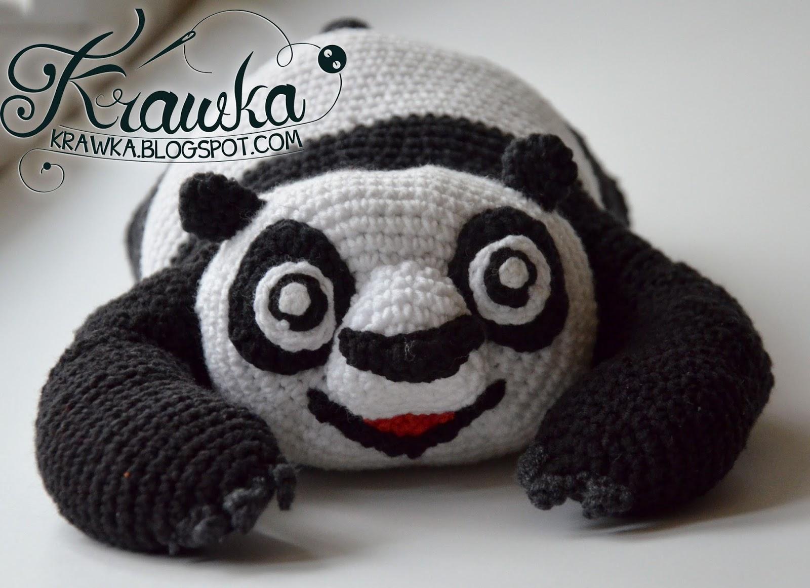 Amigurumi Oso Panda Patron : Krawka kung fu panda crochet pattern