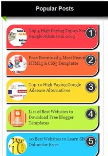 Thủ thuật thêm widget bài viết phổ biến cho blogspot
