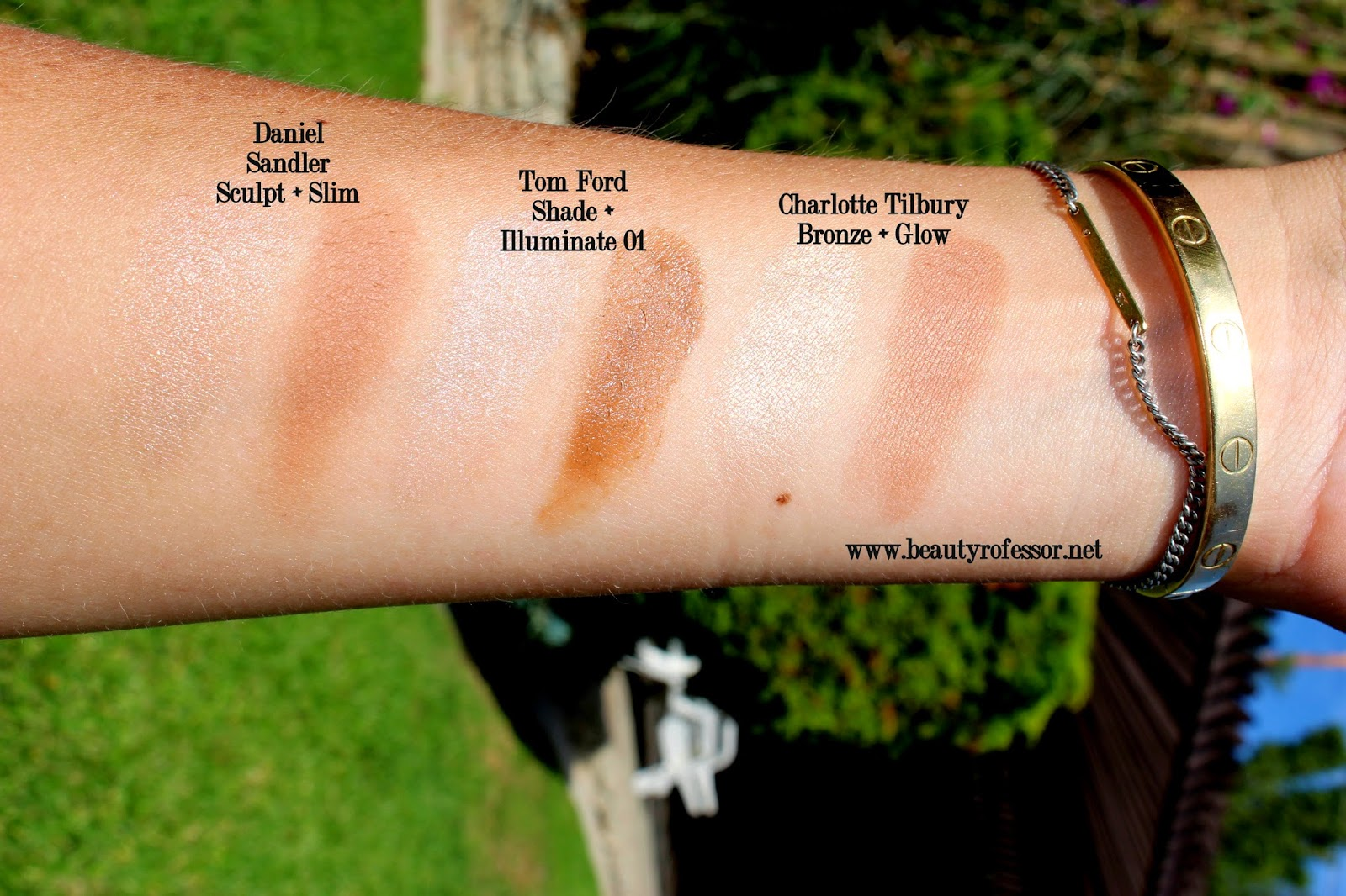 charlotte tilbury filmstar bronze and glow comparison swatches