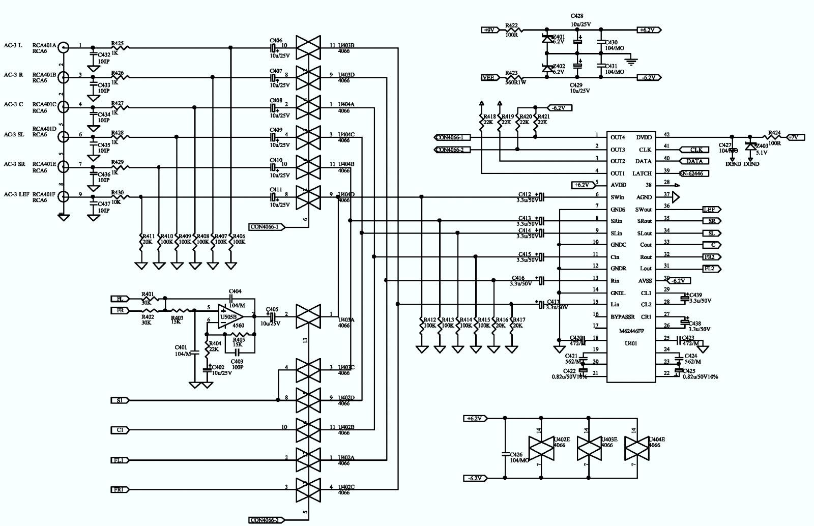 Jbl Esc230 120v Speaker System  U2013 Schematic  U2013 Wiring