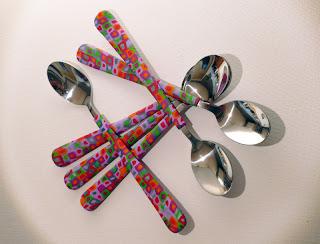 """créations fimo cane couverts cuillères """"idées cadeaux"""" offrir """"argile polymère"""" loisirs """"loisirs créatifs"""""""