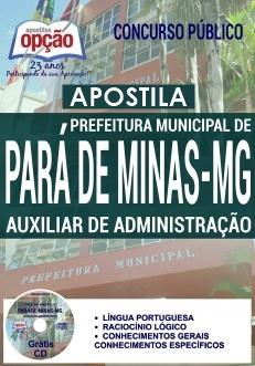 Apostila Concurso Pará de Minas MG 2017