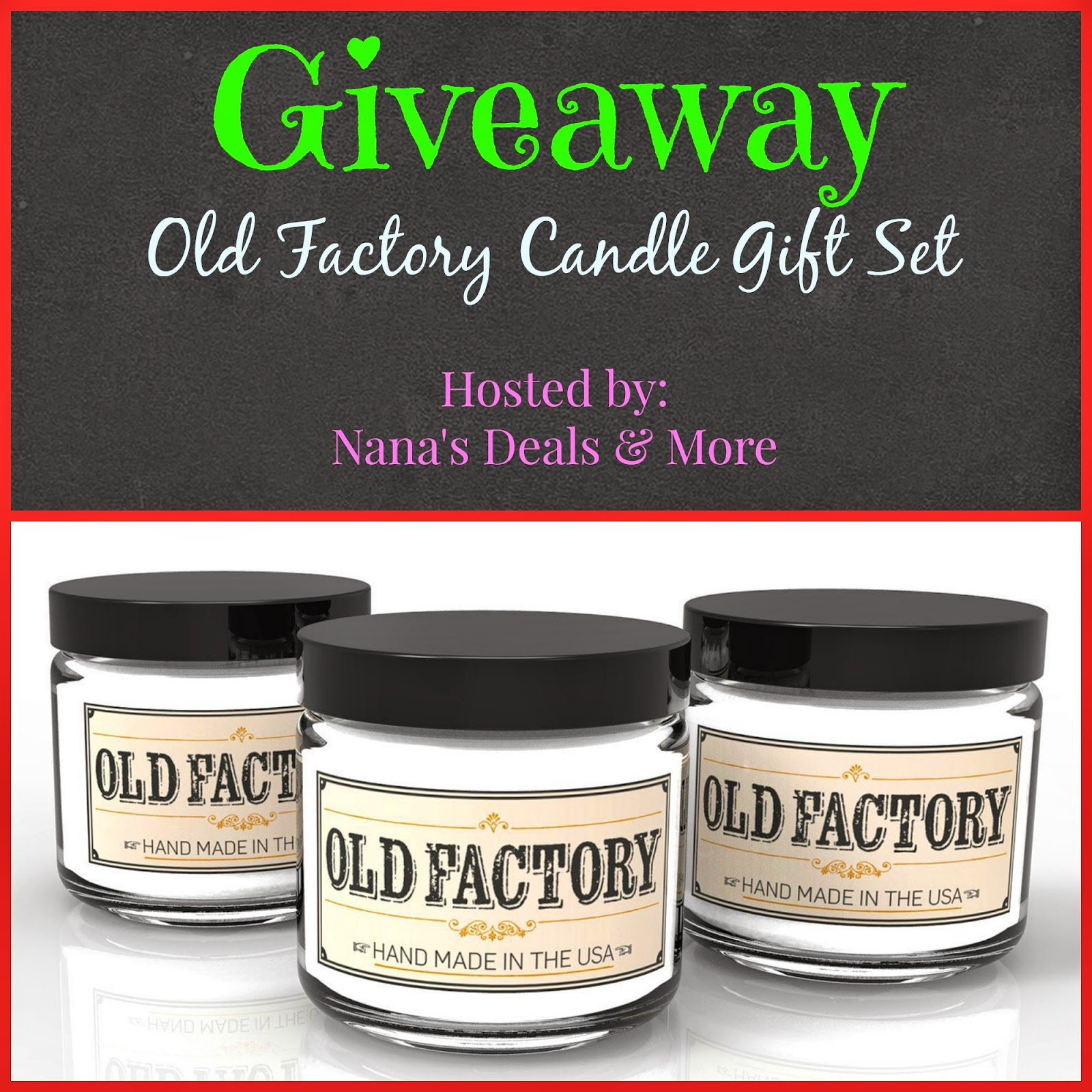 Enter to win a 3 pack of Candles