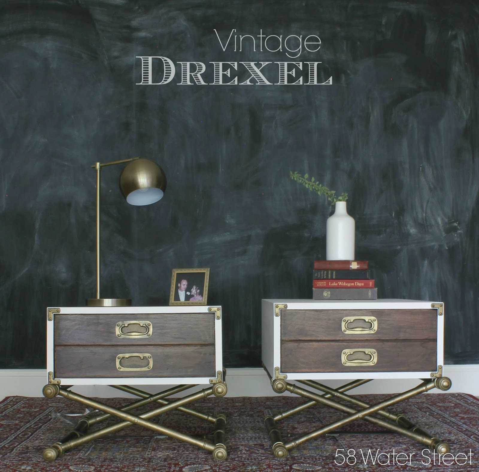 Two Tone Drexel Campaign End Tables